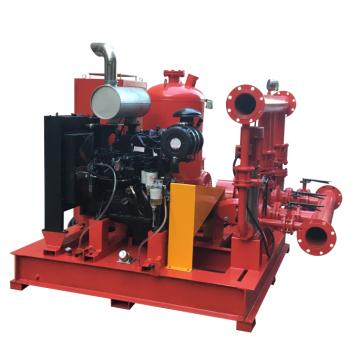 1000GPM 8bar Feuerlöschpumpe-Set Diesel-Feuerlöschpumpe und elektrische Löschpumpe mit Jockeypumpe