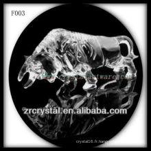 Tauromachie sculptée à la main en cristal K9
