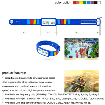 Adjustable MIFARE Ultralight EV1 PVC RFID Wristband