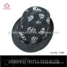 Шляпа для детей черепа fedora для вечеринки