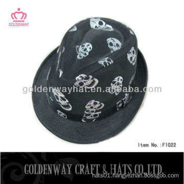 Children's skull fedora hat for party