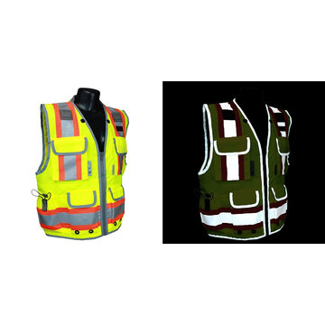 Class 2 Heavy Woven Two Tone Engineer High Visibility Vest (Medium)