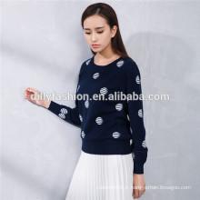 nova moda em volta do pescoço 100% cashmere fabricante de camisolas de inverno