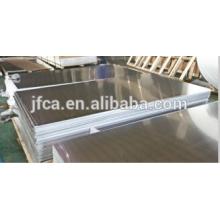 Folha de cobertura de alumínio acabamento em alumínio 6061 estoque t651