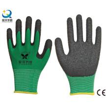 13G Polyester Shell Latex Palm beschichtete Arbeitshandschuhe
