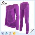 Peles confortáveis sem costura térmica térmica underwear conjunto