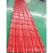 Precio de fábrica Teja de tejado de acero acanalado PPGI Hoja de techado de metal
