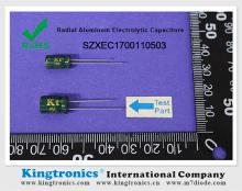 Kt Kingtronics Radial Aluminum Electrolytic Capacitors Update RoHS 2.0 Report
