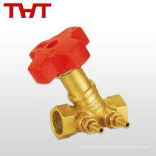 Facile à maintenir la valve industrielle en laiton résistante standard-port