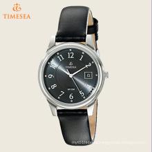 Men′s Classics Dress Black Leather Strap Watch 72499
