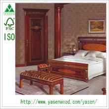 Lucury European Style Ratimentable Haute qualité Porte en bois massif