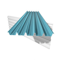 Trapezoidal roofing steel sheets