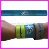 customized logo high visibility reflective slap strap