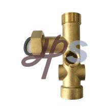 Viga de latão de 7 vias com união para sistema de distribuição de latão de aquecimento radiante