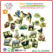 Popular 21pcs Magnetic Animal with Box Wooden Wholesale Fridge Magnet Toys