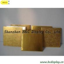 Gaufrage des tambours de gâteau de rectangle de papier d'or pour l'usage de Houshould avec GV (B et C-K048)