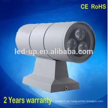 Venta al por mayor de acero inoxidable de alta calidad 110V 240V hacia arriba y hacia abajo luz de pared led
