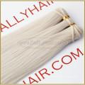 "18"" Straight #60 Ash Blond Human Hair Weft raw unprocessed virgin indian hair weaving"