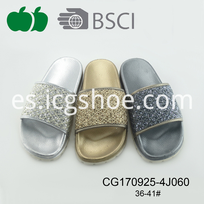 Lady Latest Design Summer Fashion Pcu Slipper