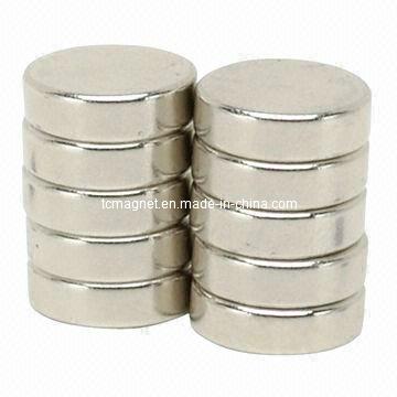 Магниты NdFeB с редкоземельными дисками с никелевым покрытием