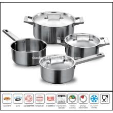 7 PCS Stainless Steel Saucepot Set
