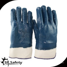 SRSAFETY Heavy Duty Glove,Canvas Cuff,Rough Gloves,Oil industrial nitrile gloves