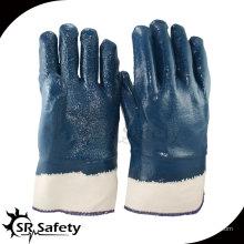 SRSAFETY Тяжелые перчатки, манжета, шероховатые перчатки, масляные нитриловые перчатки