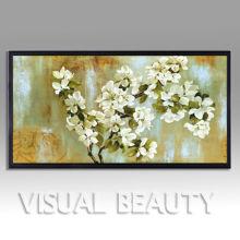 As cópias quadro da caixa da sombra das flores do c impressão de canvas envolvida
