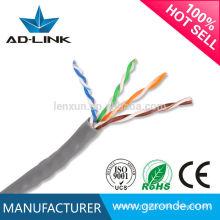 Fabriqué en Chine PVC Ethernet cat5 / utp cat5 / câble réseau réseau / lan