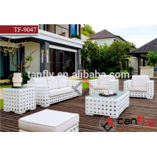 luxury outdoor furniture single modern style rattan sofa