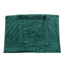 100% Cotton velour printing Corona brand promotional beach towel bag brand logo shoulder drawstring bag in towel fabric