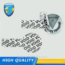 Nueva promoción Etiqueta redonda de la garantía hecha en China