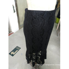 Spring Latest Jacquard Wrap Elegant Ladies Skirt