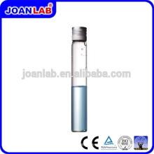 JOAN LAB Borocilicate 3.3 Tubo de ensayo de vidrio con tapa de aluminio