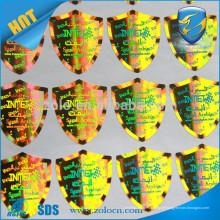 Etiqueta anti-falso de holograma e etiqueta holográfica 3D Segurança redonda Impressão personalizada de adesivos de holograma