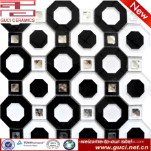 black and white mixed Acrylic Mosaic crystal Glass Tiles