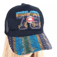 Модная шлифовальная стиральная аппликационная вышивка Спортивная бейсбольная кепка