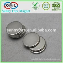 vernickelt, die runde Scheibe Magneten