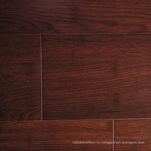 Handscraped коричневого цвета 14 мм твердые нити ткани Bamboo настил
