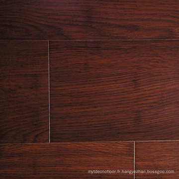 Handscraped brown color 14mm solid strand woven bamboo flooring