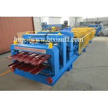 Leading for Metal Sheet Rolling Machine Double Layer arc cutting Roll Forming Machine supply to Suriname Manufacturers
