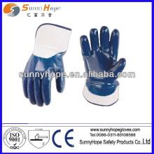 Luva de trabalho revestida com nitrilo azul de Sunnyhope