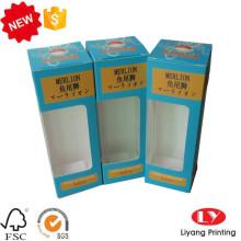 Boîte d'emballage en papier avec fenêtre en PVC