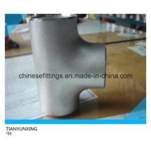 Asme B16.9 Wp304 316 Равнополочный тройник из нержавеющей стали