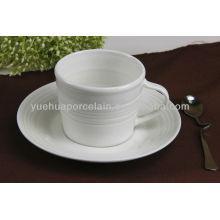 Tazas y platillos al por mayor de la venta de China de la porcelana de la venta caliente