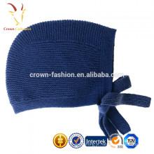 Atacado inverno crianças bebê malha chapéu de cashmere com gravata