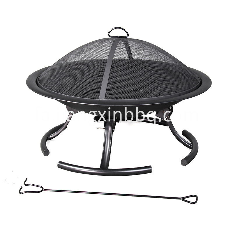 Pleasant Hearth 30 Inch W Black Steel Wood Burning Fire Pit