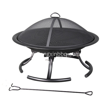 Pleasant Hearth 30-Zoll-W Black Steel Feuerstelle