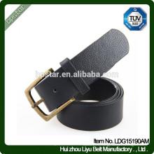 Boucles d'oreille en métal véritable décontracté et décontracté pour hommes, en cuir véritable, en cuir véritable, ceinture de cintre de cuir pour hommes
