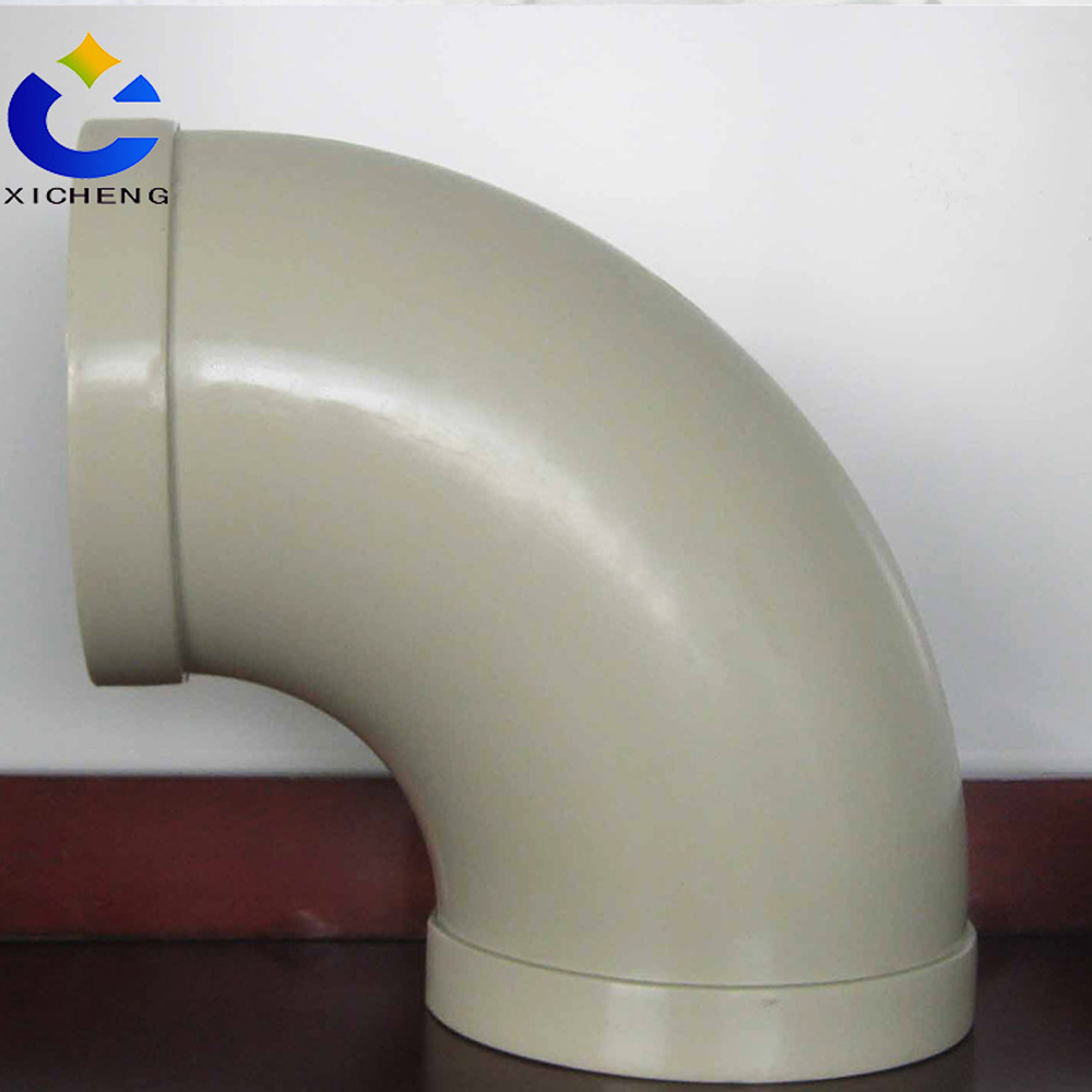 Anti-corrosion ventilation accessories pp plastic elbow